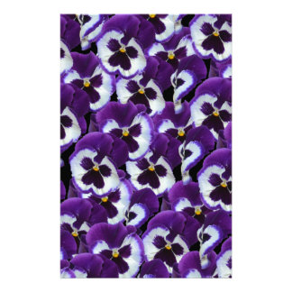 Purple_Pansies_Bouquet,_ Stationery