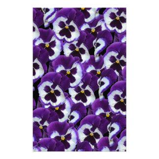 Purple_Pansies_Bouquet,_ Stationery Design
