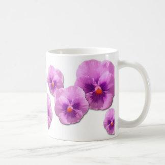 Purple Pansies Impressionist Coffee Mug