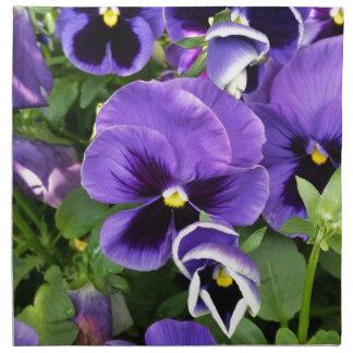 purple pansies napkin