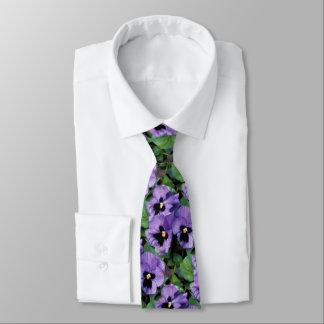 Purple Pansies Tie