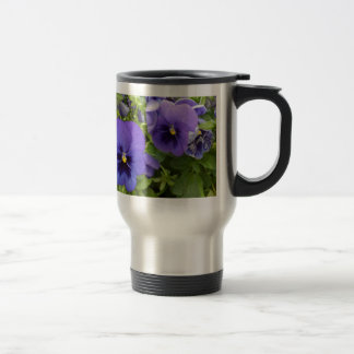 Purple Pansies Travel Mug