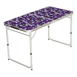 Purple Pansy Bouquet, Beer Pong Table