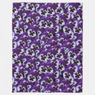 Purple Pansy Bouquet, Fleece Blanket