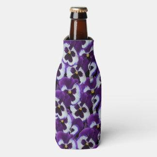 Purple_Pansy_Bouquet,_Stubby_Cooler_Holder. Bottle Cooler