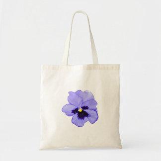 Purple Pansy Budget Tote Bag
