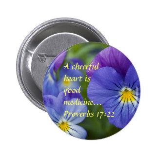 Purple Pansy - Cheerfulness 6 Cm Round Badge