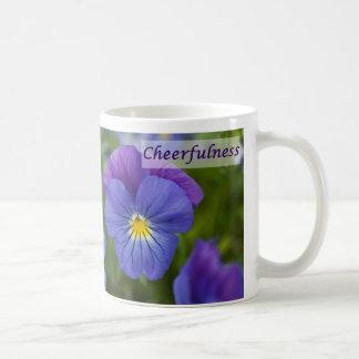 Purple Pansy - Cheerfulness Basic White Mug