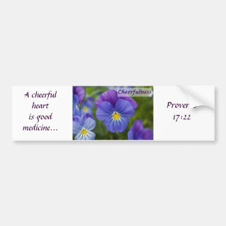 Purple Pansy - Cheerfulness Bumper Sticker