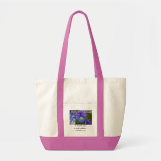 Purple Pansy - Cheerfulness Tote Bag