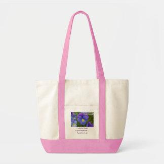 Purple Pansy - Cheerfulness Impulse Tote Bag