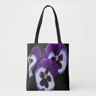 Purple_Pansy_Delicious,_Full_Print_Shopping_Bag Tote Bag