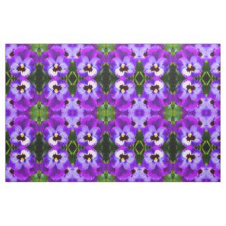 Purple Pansy Fabric