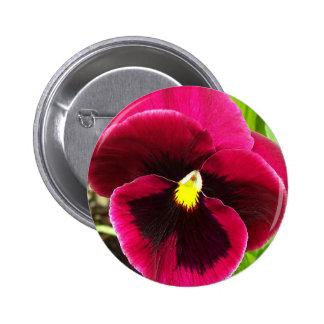 Purple Pansy Floral 6 Cm Round Badge