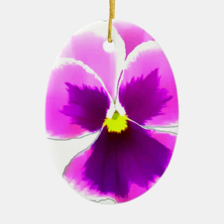 Purple Pansy Flower 201711 Ceramic Ornament
