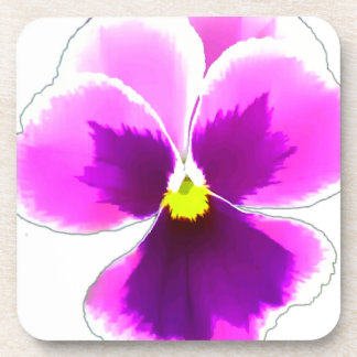 Purple Pansy Flower 201711 Coaster