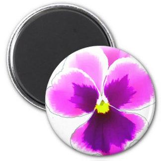 Purple Pansy Flower 201711 Magnet