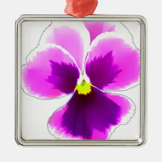 Purple Pansy Flower 201711 Metal Ornament