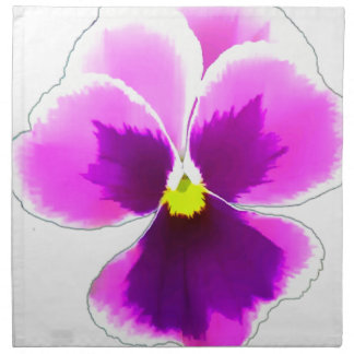 Purple Pansy Flower 201711 Napkin