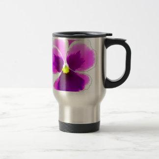 Purple Pansy Flower 201711 Travel Mug