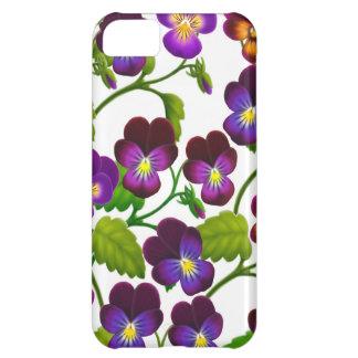 Purple Pansy Garden Flowers iPhone 5 Case