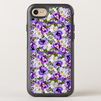 Purple Pansy Garden iPhone Case