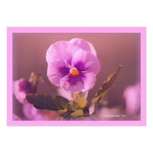 Purple Pansy Impressionist Business Card