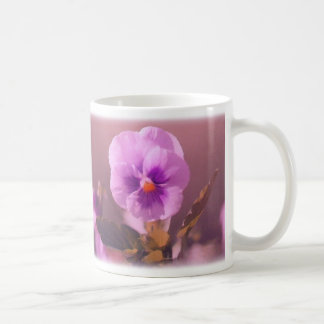 Purple Pansy Impressionist Coffee Mug