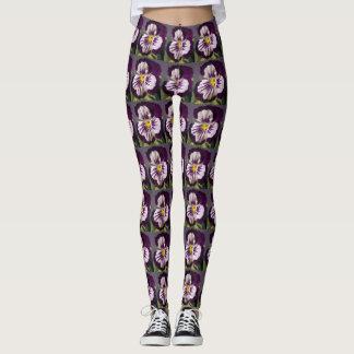 Purple Pansy Leggings