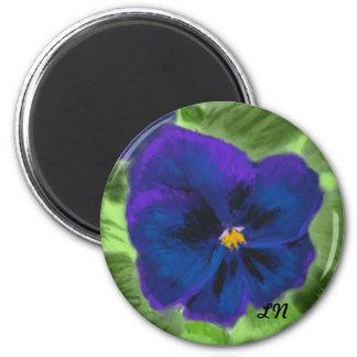 Purple Pansy Magnet