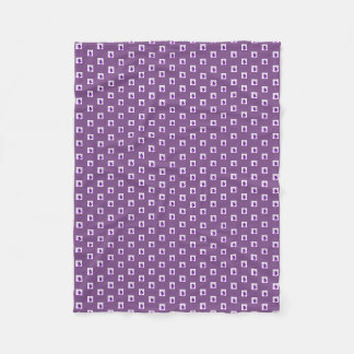 Purple Pansy on Purple Background Fleece Blanket