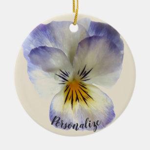 Purple Pansy Ornament