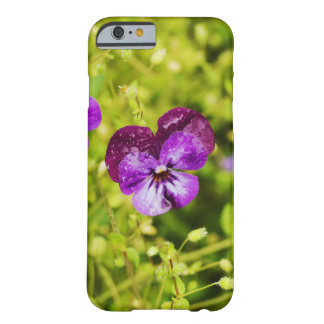 Purple Pansy Phone Case, Purple Flower Photography Barely There iPhone 6 Case