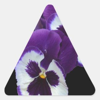 Purple_Pansy_Posy,_ Triangle Sticker