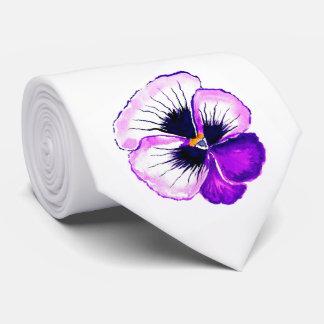 Purple Pansy Tie