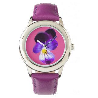 Purple Pansy Wristwatch