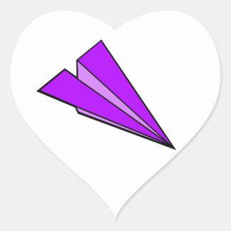 Purple Paper Airplane Sticker
