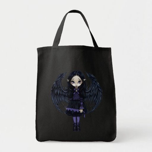 Purple Paper Hearts gothic fairy Bag