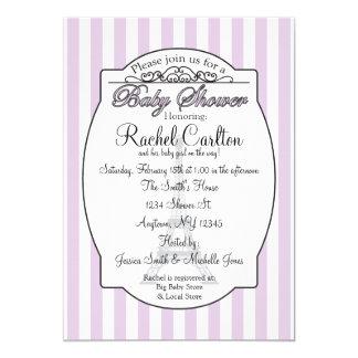 Purple Paris Theme Baby Shower Invitation