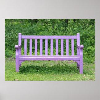 Purple Park Bench - Splash of Color Poster