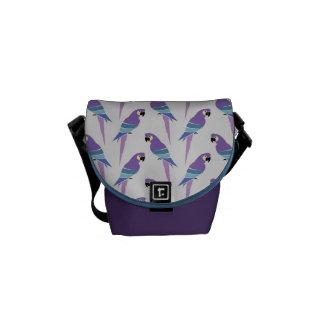 Purple Parrots Commuter Bags