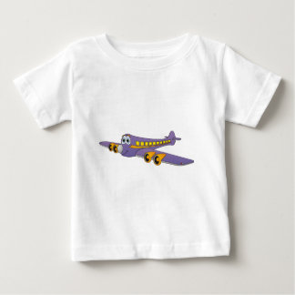 Purple Passenger Jet Cartoon Baby T-Shirt