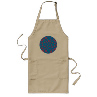 purple passion feeling blue moon circle pattern aprons