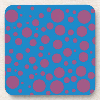 purple passion feeling blue moon circle pattern drink coaster