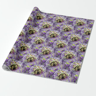 Purple Passion Flower Close Up Wrapping Paper