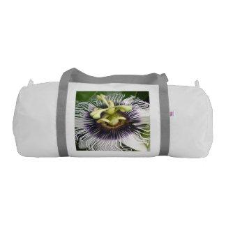 PURPLE PASSION FRUIT FLOWER GYM BAG