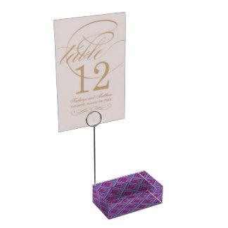 purple passion lavender fields diamond pattern art table card holders