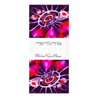 Purple Passion Name Place Setting Rack Card