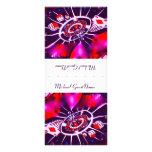 Purple Passion Name Place Setting Rack Card Design