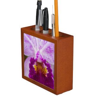 Purple Passion Orchid Desk Organiser